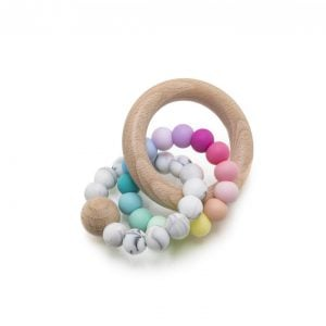 Muncher Teether Rattle - #02 Rainbow