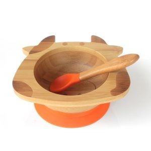 Organic Bamboo Bowl Happy Cow - Orange