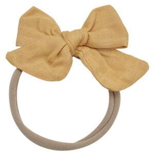 muslin headband mustard