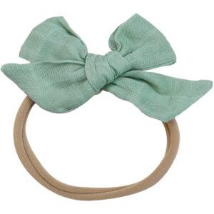 muslin headband sage