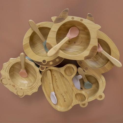 organic bamboo plates and bowls