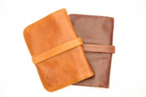 Leather Nappy Clutch